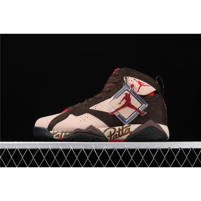 Men Air Jordan 7 x Patta OG SP Shimmer Chocolate
